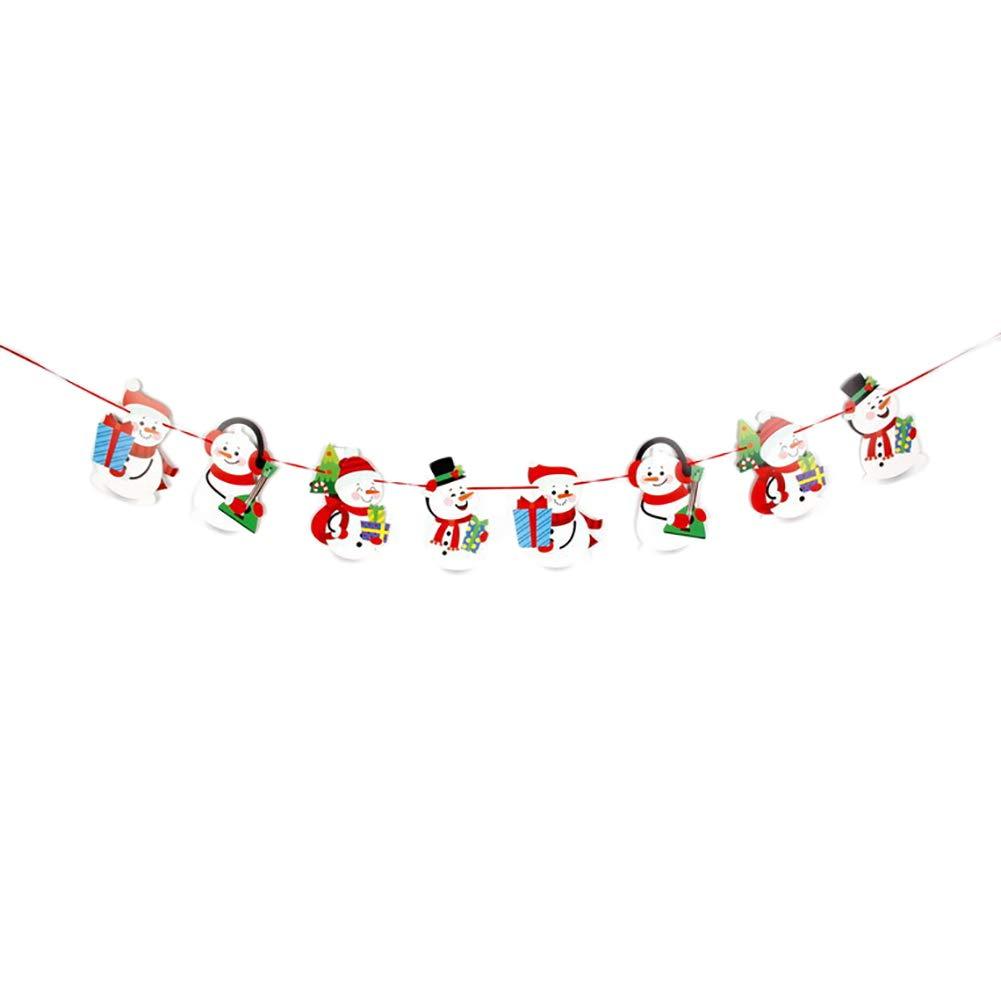 BIGBOBA Patrón de muñecos de Nieve Banner de Papel de Navidad ...