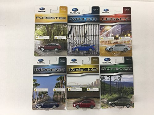 23c2cdfabcf AeroPro Official Genuine Subaru 1 64 Die Cast Toy 6 Car Set WRX STi Outback  Legacy Forester Impreza