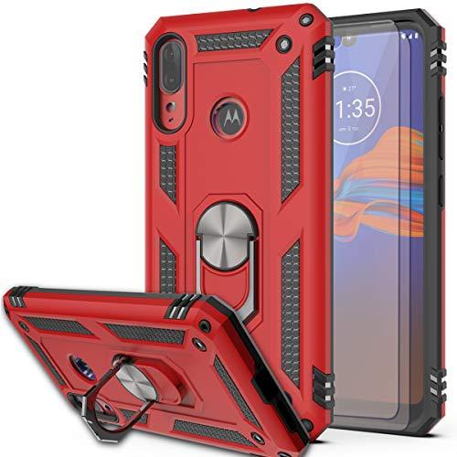 Funda Con Soporte Para Motorola Moto E6 Plus/e6s Roja
