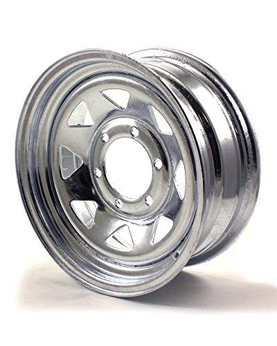 RecStuff.com JG 15X6 6/5.5 Galvanized Spoke Trailer Wheel