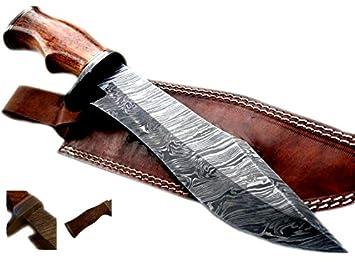 Amazon.com: Nescole - Cuchillo de 14 pulgadas, hecho a mano ...