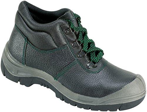 Sicherheits-Schnürstiefel Sicherheits-Stiefel ROSTOCK ÜK EN ISO 20345 S3 SRA - Weite 10,5 - schwarz - Größe: 48