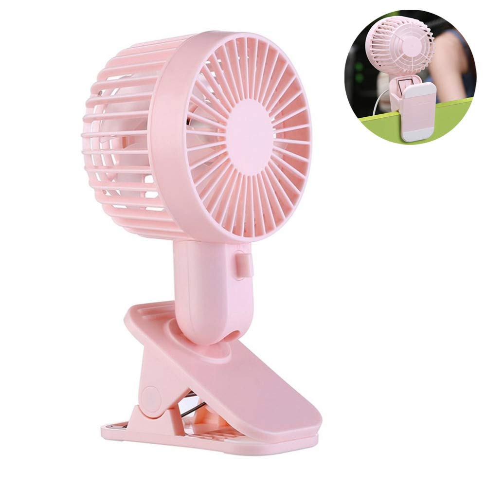 USB Mini Portable Fan with Clip, Ayans Small Personal Desk Fan with Adjustable Head Electric Cooling Quiet Fans for Home Office Desktop Bedside Student Dorm