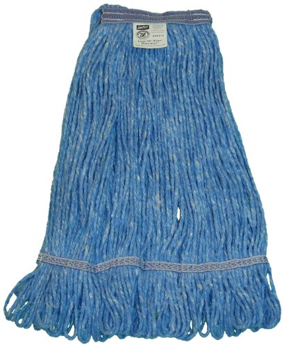 Zephyr 26314 Blendup Blue Blended Natural and Synthetic Fibers X-Large Loop Mop Head with 1-1/4'' Narrow Headbands (Pack of 12) by Zephyr