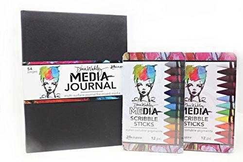 Ranger Dina Wakley Media Journal 8x10. Scribble Sticks Set 1 & 2.