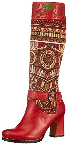 Donna 01 Celestine Vita Rot Rouge Stivali Laura F5EIqF