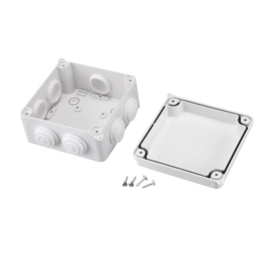 sourcingmap 109 x 109 x 66mm Electronic Plastic DIY Junction Box Enclosure Case White