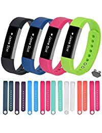 ABC® 12PC Luxury Large/Small Size Replacement Wristband Band Strap + 1pc Buckle for Fitbit Alta Wristband Bracelet (Large)