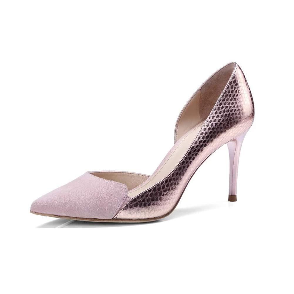 Frauen High Heels geschlossen Zehenrinde spitzes Stilett Schuhe Spleiß Spleiß Spleiß Abend Hochzeit Gericht Schuhe Pumpen 7ac7ef