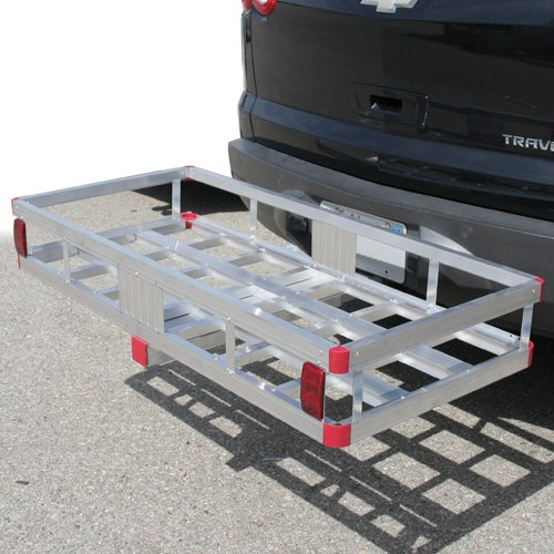 XtremepowerUS 49'' x 22'' 500 Lb Truck Hitch Mount Hual Aluminum Cargo Carrier Basket