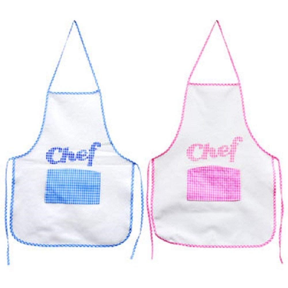 Littlest Chef Kids Apron with Chefs Hat and 8 Piece Cooking Utensil Set (Pink) by Cooking for Fun (Image #2)