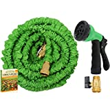 Expandable Water Hose No Kinking Flexible Lightweight Garden Nozzle with 7-Pattern Spray 50ft