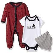 Hudson Baby Baby Multi Piece Clothing Set, Little Man 3 Piece, 3-6 Months