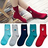 ShunLight New Fashion Harajuku Candy Color Women Girls Casual Cute Cartoon Warm Socks Random Color