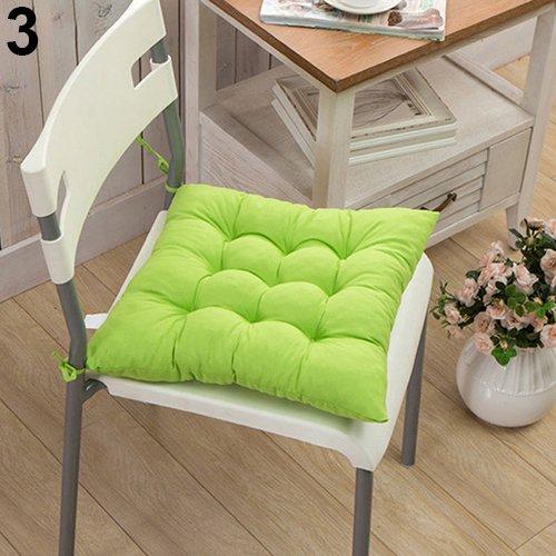 AchidistviQ Soft Polka Dot Solid Seat Pad Travel Home Office Decor Tie On Chair Cushion #1-Coffee Dumpy Grid