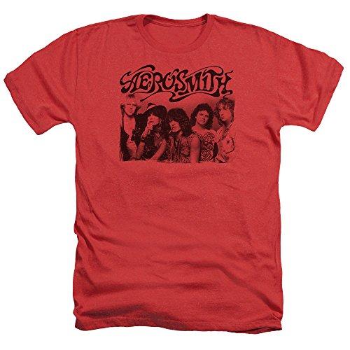 Old Aerosmith Photo Heather rojo hombre para camiseta f6vqw7d
