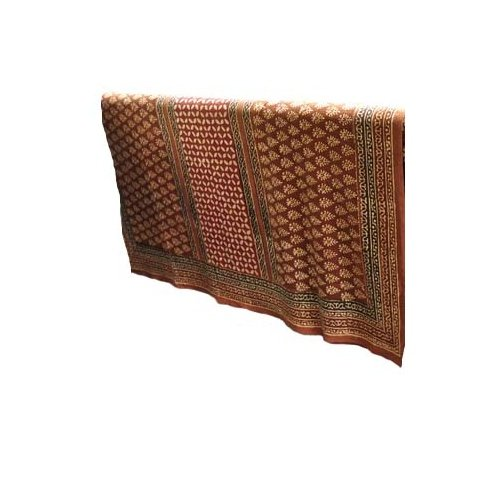 Abigails Bali Batik Large Brick and Gold 72-Inch  by 108-Inch  Tablecloth - Bali Batik Tablecloth