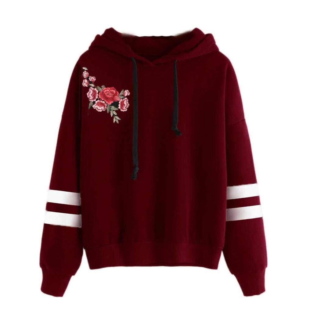 Leey Damen Pullover Streifen Casual Mädchen Kapuzenpullover Hoodie Sweatshirt Hoodies Elegant Kleidung Pullis Sweatshirt Streetwear Winterpullover Hip Hop Coole Klamotten