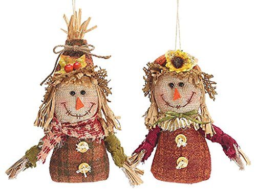 Halloween/Harvest/Thanksgiving Decor Boy and Girl Scarecrow -
