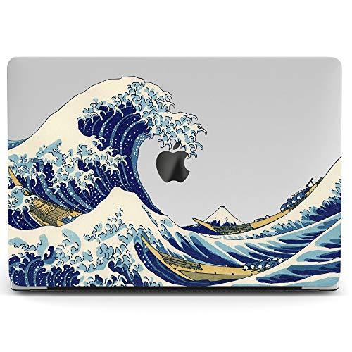 Wonder Wild Mac Retina Cover Case for MacBook Pro 15 inch 12 11 Clear Hard Air 13 Apple 2019 Protective Laptop 2018 2017 2016 2015 Plastic Print Touch Bar Sea Great Wave Kanagawa Katsushiki Hokusai