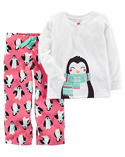 Carter's Baby Girls' 12M-14 2 Piece Penguin Fleece Pajama Set 12 Months