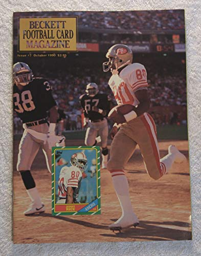 (Jerry Rice - San Francisco 49ers - Beckett Football Card Monthly Magazine - #6 - September 1990 - Back Cover: Jim Everett (Los Angeles Rams) )
