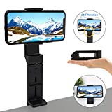 Universal Mount Phone Stand, Gozheec 360 Degree Rotating Cell Phone Holder Adjustable Phone Clamp Compatible with Phone 8,11,11 Pro,X,XR,XS MAX Android Phones Dock for Travel,Desk,Bed,Cabinet