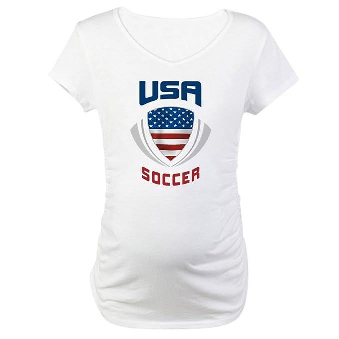 ffe6943d334a3 CafePress Soccer Crest USA Blue Maternity T-Shirt Cotton Maternity T-Shirt,  Cute