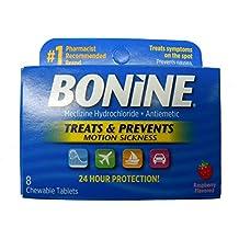 Bonine Motion Sickness Prevention Chewable Tablets 8 Per Box