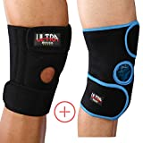 Medical Grade Knee Brace Support for Arthritis, ACL, Running, Basketball, Meniscus Tear, Sports, Athletic. Open Patella Protector Wrap, Neoprene, Non-Bulky, Relieves Pain. FDA Approved