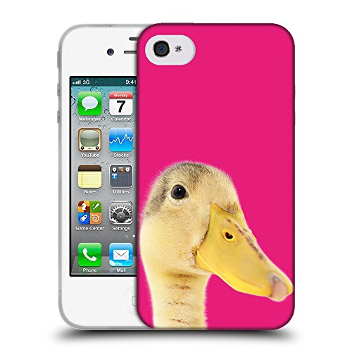 GoGoMobile Coque de Protection TPU Silicone Case pour // Q05760616 Caneton Bright Pink // Apple iPhone 4 4S 4G