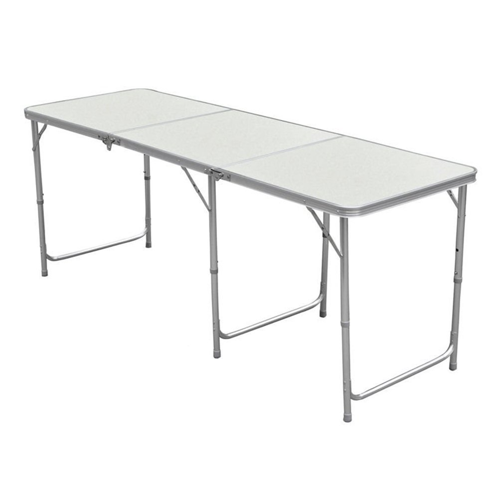 4FT Aluminum Folding Table Portable Utility Foldable Table with Carrying Handle for Kitchen Garden Party Picnic Camping (1.2M/4Ft) by Myifan