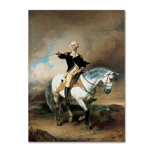 Portrait of George Washington Artwork by John Faed, 24 by 32-Inch Canvas Wall Art