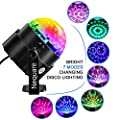 Party Lights Sound Activated Disco Ball Strobe Light 7 Lighting Color Disco Lights with Remote Control