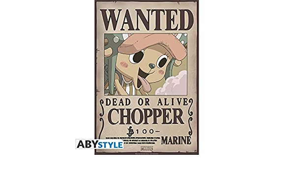 Amazon.com: AbyStyle - Poster - One Piece Wanted Chopper NEW ...