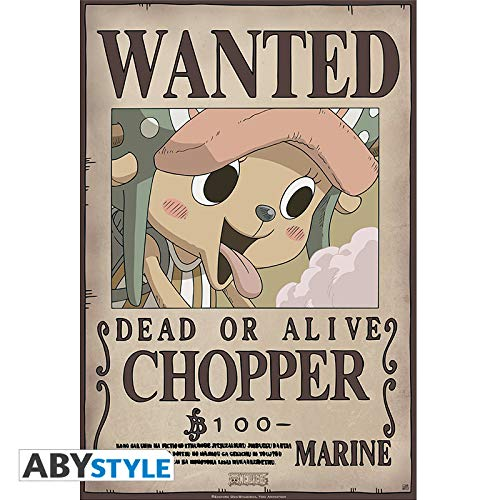 ABYstyle One Piece - Póster de Wanted Chopper New (52 x 38 ...