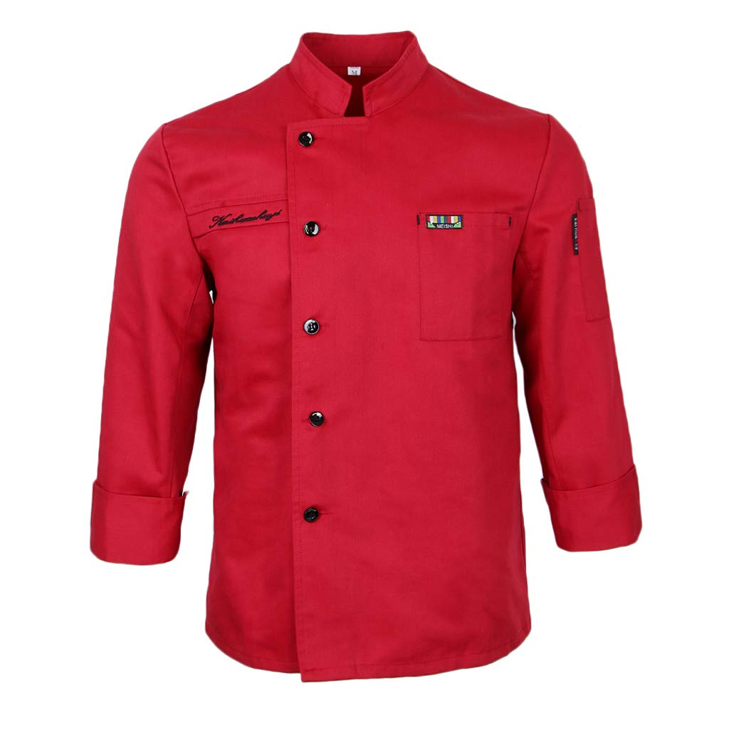 P Prettyia Damen Herren Kochjacke Langarm Bä ckerjacke Knö pfe Kü che Uniform Arbeitskleidung Gastronomie Koch Berufsbekleidung M-3XL