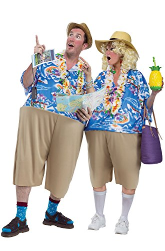 Fun Couples Costumes (Fun World Unisex-Adult's Tacky Tourist, Multi,)