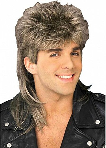[Diy-Wig Stylish Mens Retro 70s 80s Disco Mullet Wig Fancy Party Accessory Cosplay Wig (Blonde)] (Wigs For Mens)
