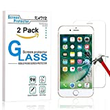"""iPhone 7 Plus Screen Protector - KATIN [2-Pack] Apple iPhone 8 Plus , 7 Plus , 6S Plus , 6 Plus (5.5""""inch) Tempered Glass 9H Hardness , 3D Touch Compatible , Lifetime Replacement Warranty"""
