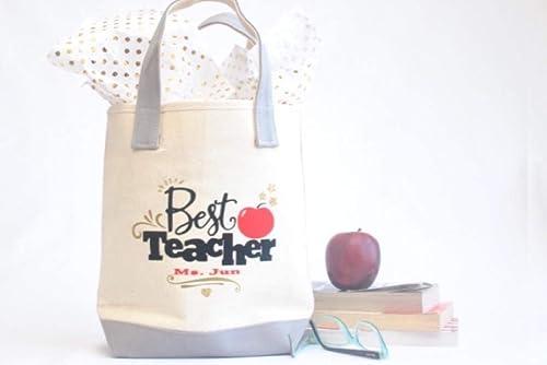 Personalized Teacher Tote Bag Teacher Appreciation Teacher Gift