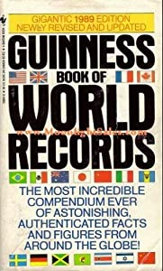 Mass Market Paperback Guinness Book of World Records 1989 Book