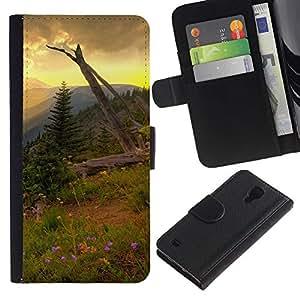 Stuss Case / Funda Carcasa PU de Cuero - Americana Montaña Forrest - Samsung Galaxy S4 IV I9500
