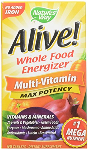 Nature's Way Alive!: Whole Food Energizer Multivitamin Max Potency, 90 Tabs