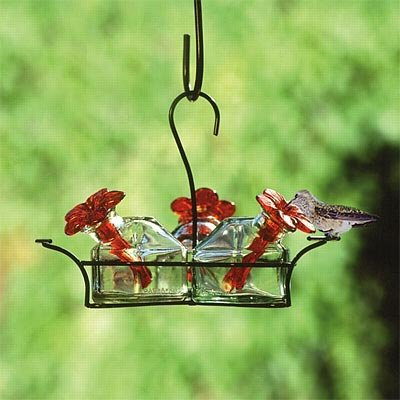 Parasol Bouquet-3 Hummingbird Feeder, Clear, 10.5 oz.