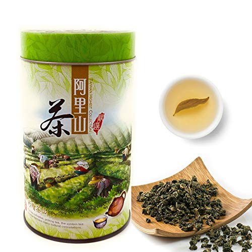 Tepacito Oolong Tea Loose Leaf, Authentic Taiwan Alishan High Mountain Tea Healthy Weight Loss Detox Relaxing Naturally Grown Fresh Flavor Unique Aroma