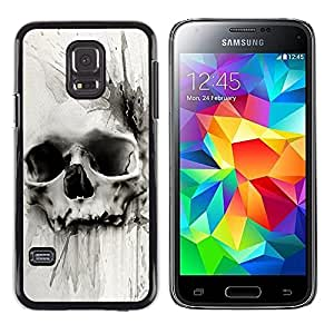 LECELL--Funda protectora / Cubierta / Piel For Samsung Galaxy S5 Mini, SM-G800, NOT S5 REGULAR! -- Death Watercolor Drawing Metal --