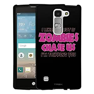 LG Escape2 Case, Snap On Cover by Trek I Like U But If Zombies Chase Us Pink on Black Case