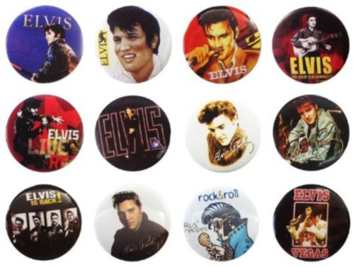 Elvis Presley (3) Awesome Quality Lot 12 New Pins Pinback Buttons Badge 1.25