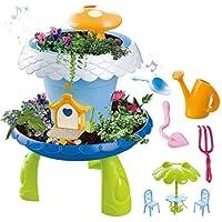 deAO sprookjestuinhuis- magische tutspeelset voor kinderen met graszaad en plantenaarde (Faery Garden)